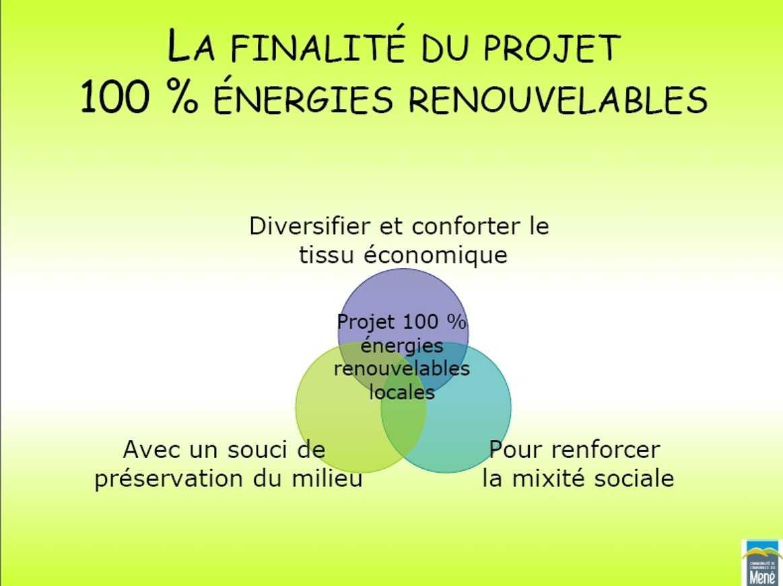 L'énergie renouvelable et les économies d'énergies au coeur du développement d'un territoire rural projet