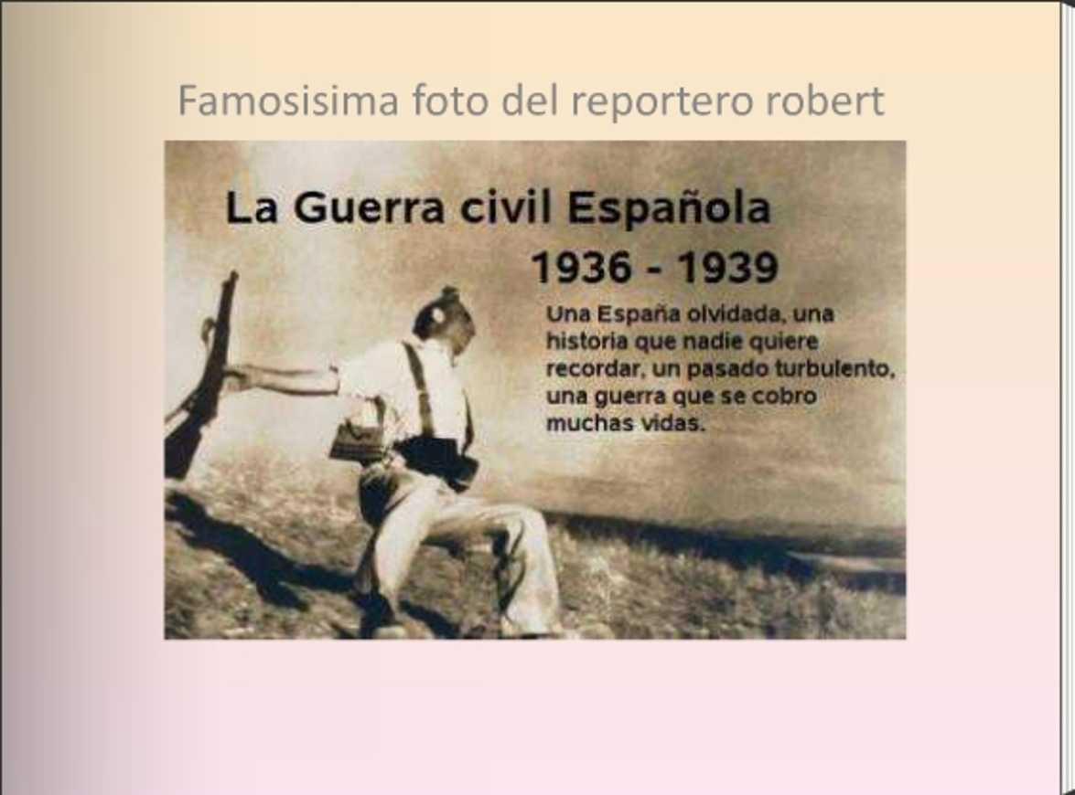 Guerre civile en Espagne : travail des 1ières ES1 0
