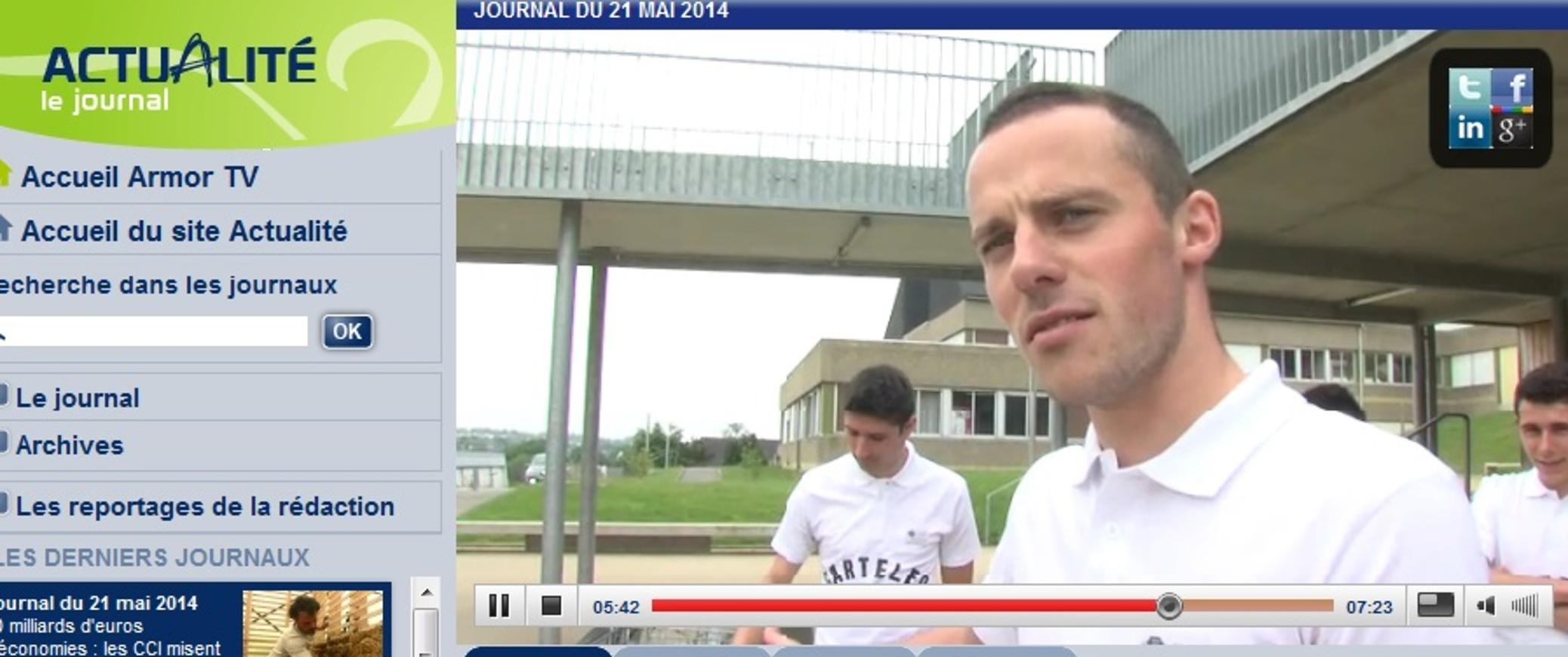 """Concours régional """"une entreprise dans votre lycée"""" (reportage d''Armor TV) sanstitre"""