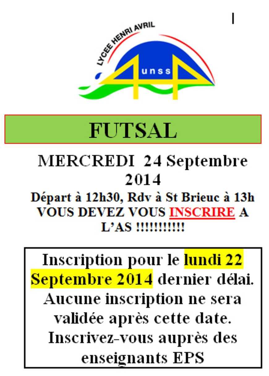Futsal le 24 septembre 0