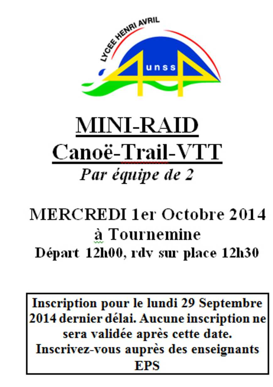 Mini-raid le 1er octobre 0