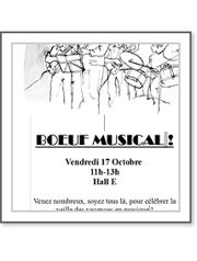 boeuf musical vendredi 17 octobre 11h-13h