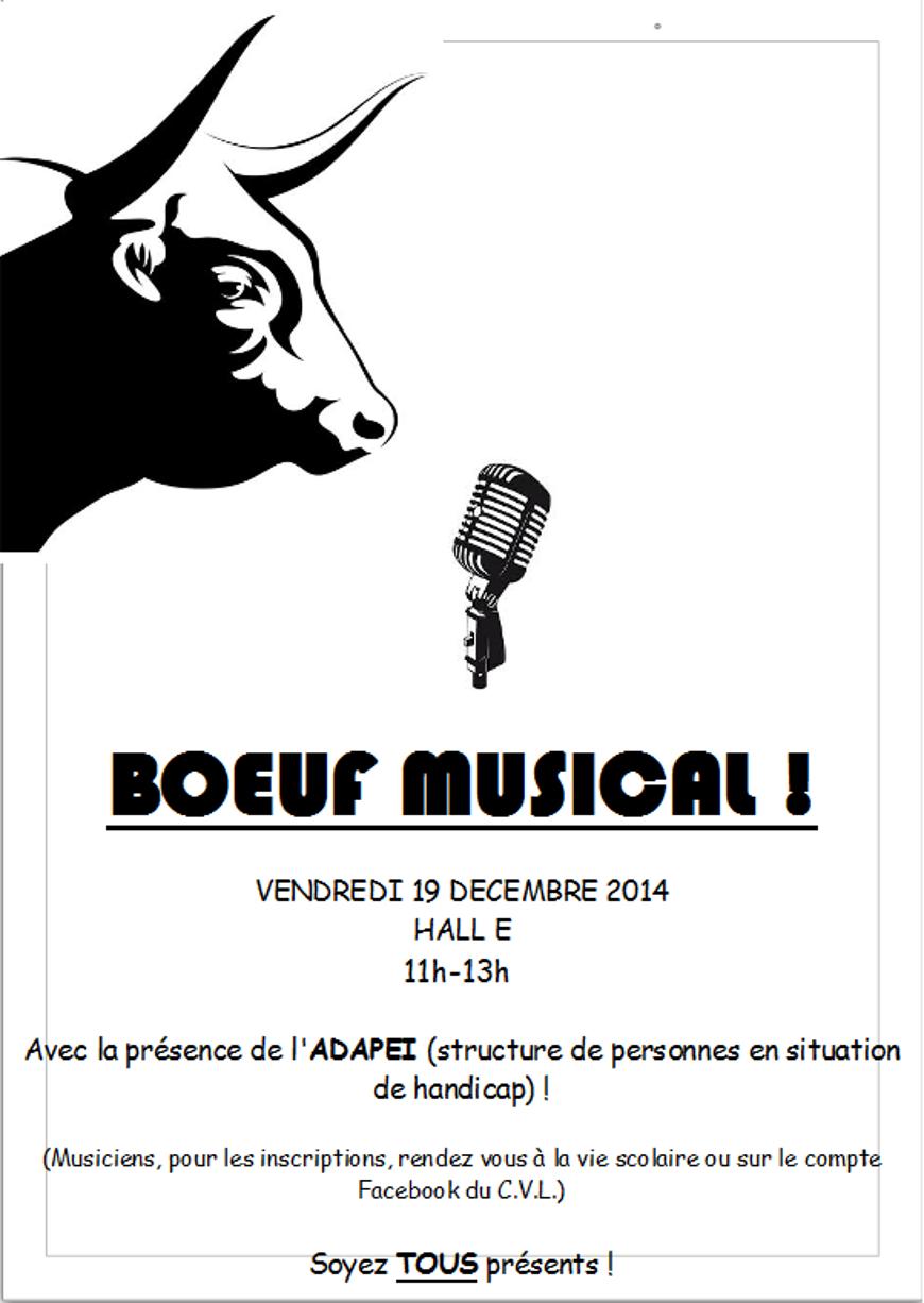 Boeuf musical le vendredi 19 décembre (11h-13h) 0
