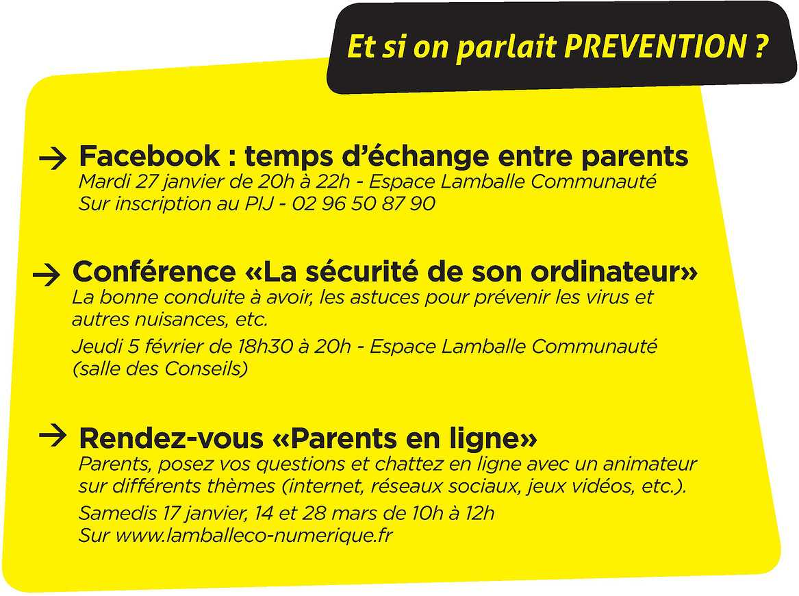 Rencontres prévention à destination des parents 0