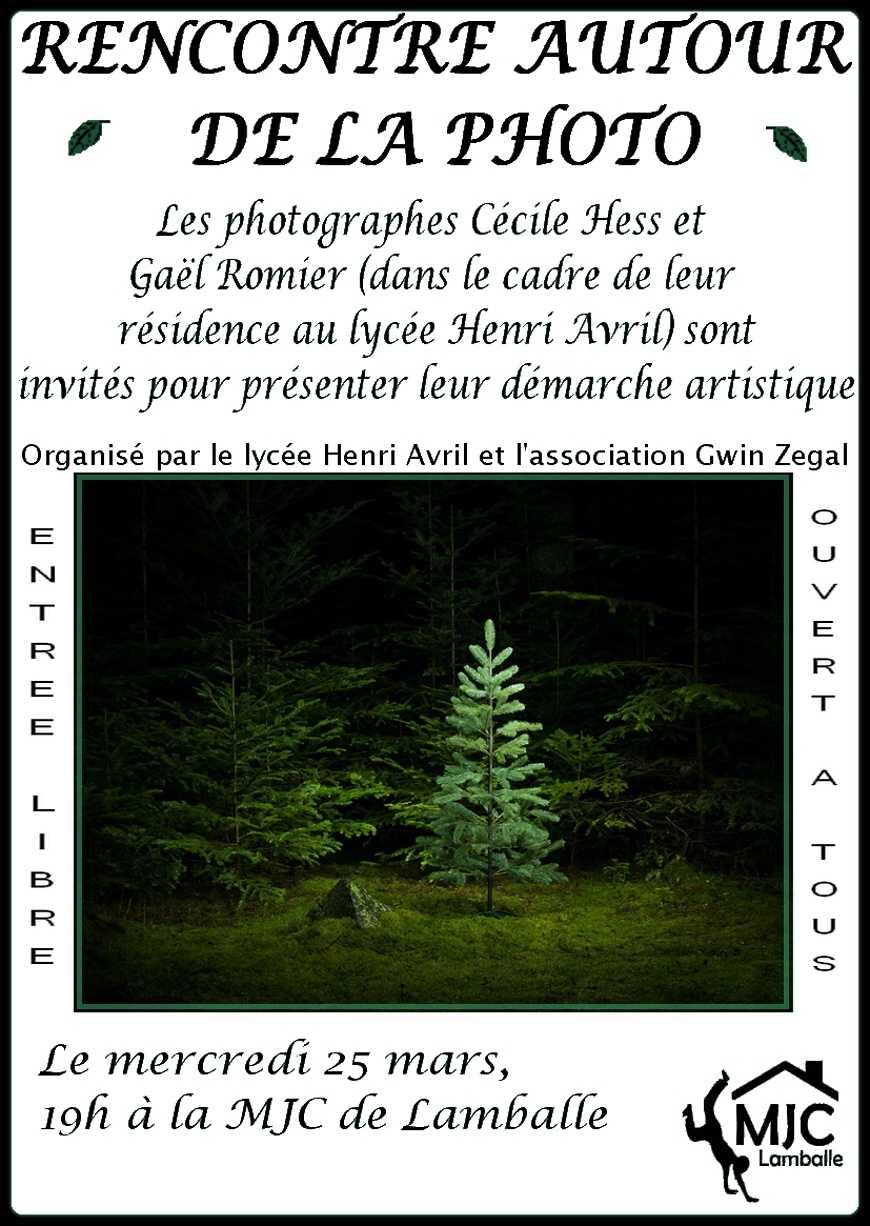 Rencontre avec les photographes Cécile Hess et Gaël Romier 0