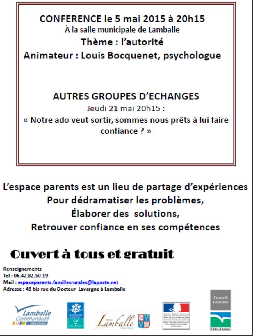 L''autorité (conférence de Louis Boquenet)(espace parents) 0