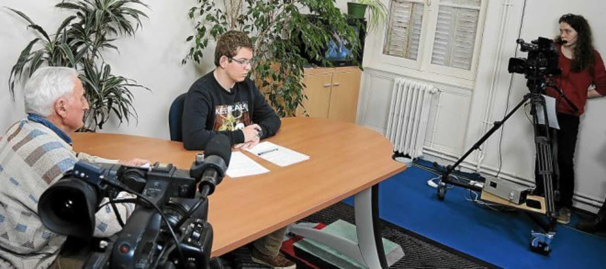 Enregistrement d''une émission de télévision sur le gallo (Télégramme) 0