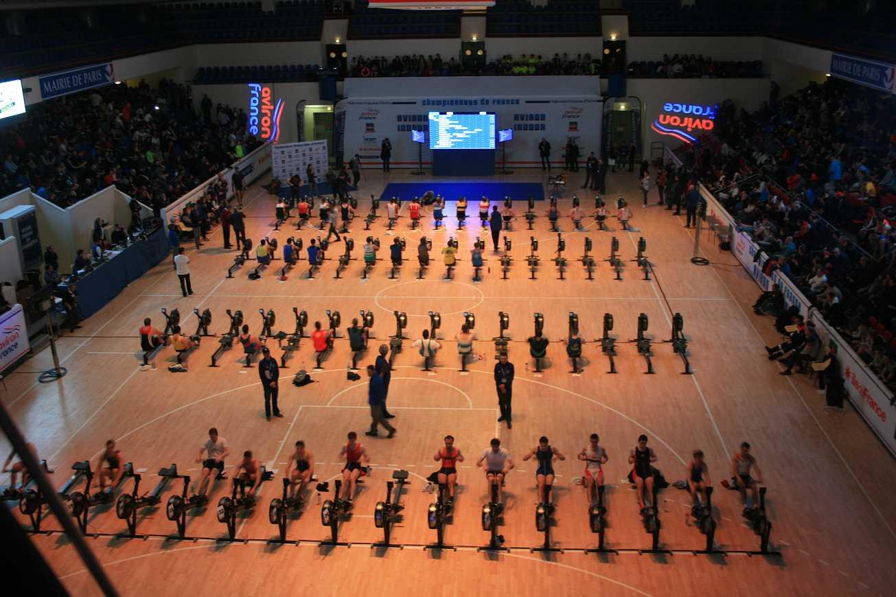 Championnat de France d'aviron indoor. img9341