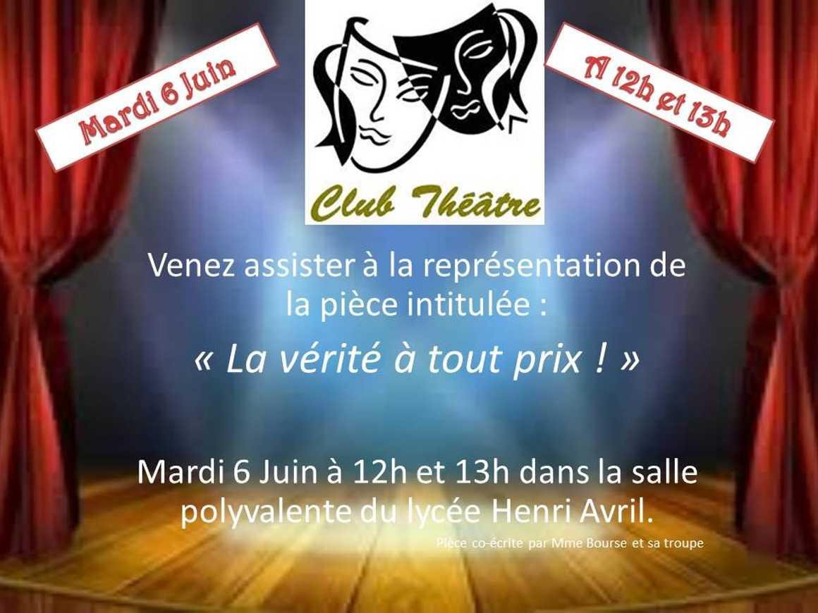 Représentation du club théâtre 0