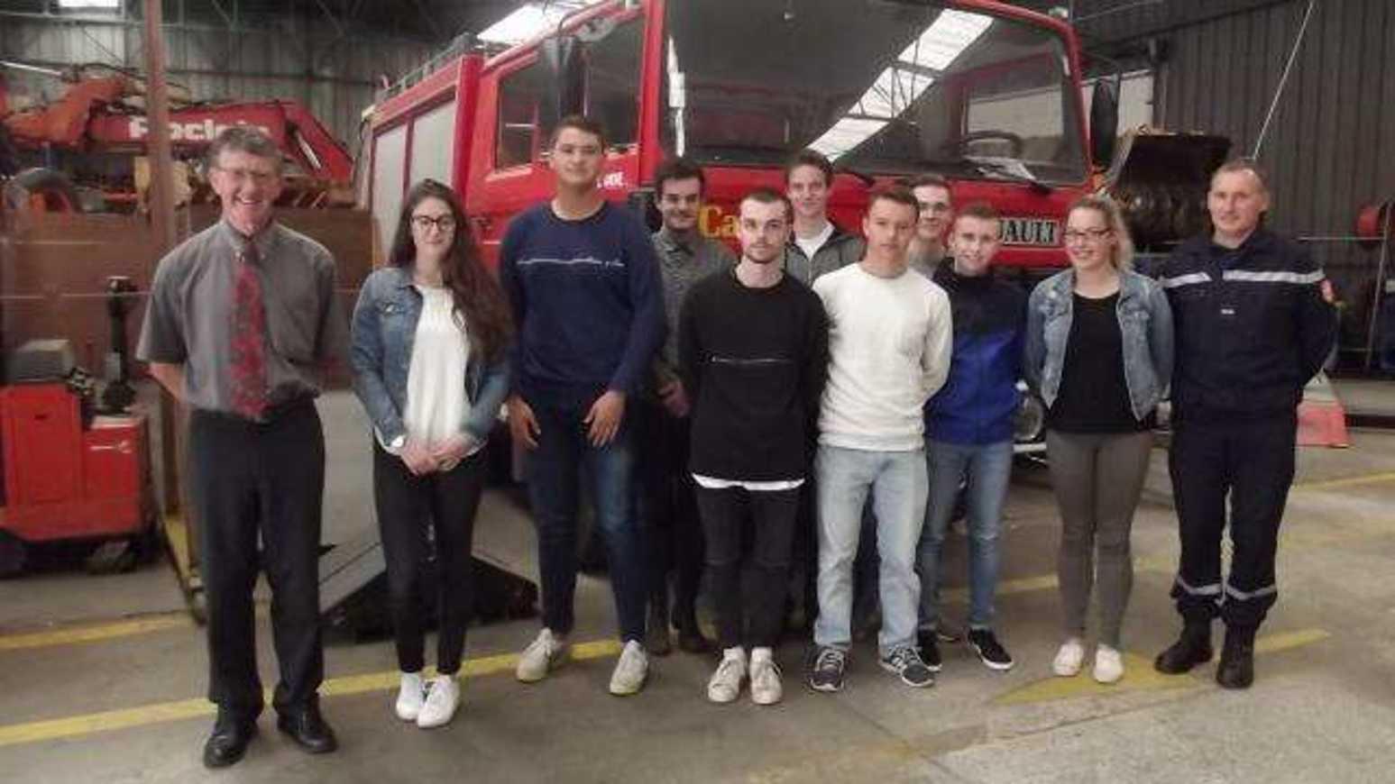 La rentrée de la Mention complémentaire SCE lamballe-les-futurs-pompiers-ont-fait-leur-rentree