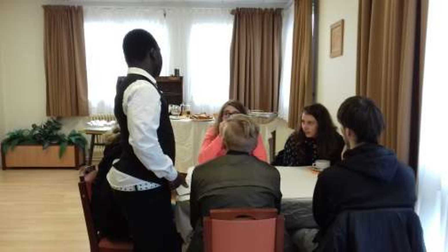 Les élèves de l'ULIS en visite en vue de leur orientation professionnelle ulis12