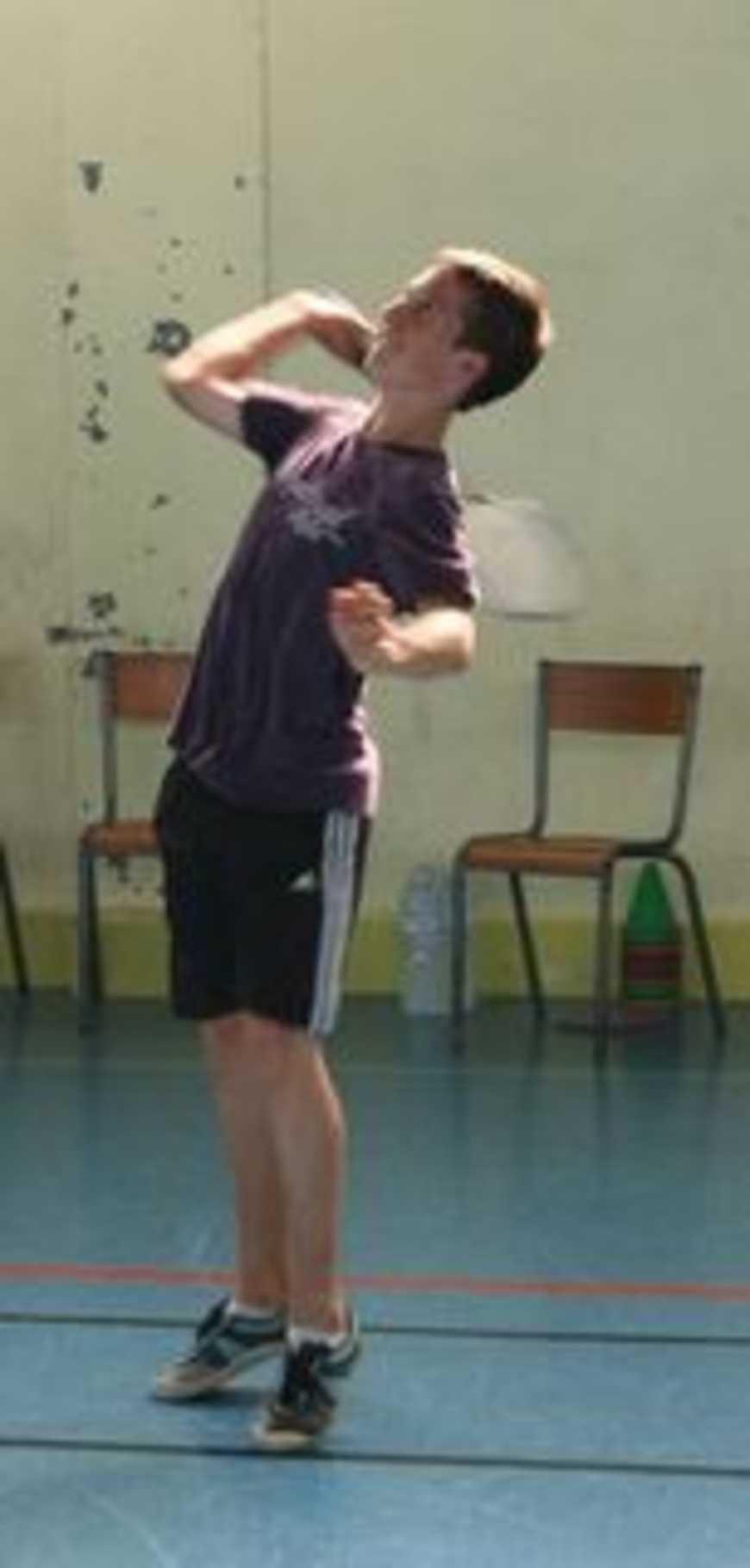 C''est la reprise! 1ère rencontre de badminton en duo (le 28/09/11) 0