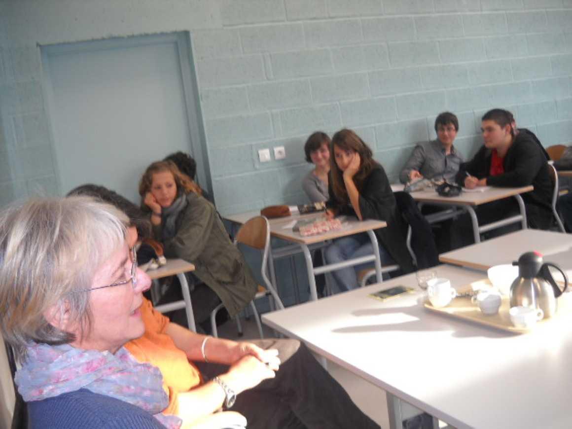 L''écrivain Patrick Bard a rencontré des élèves du lycée dscn1579