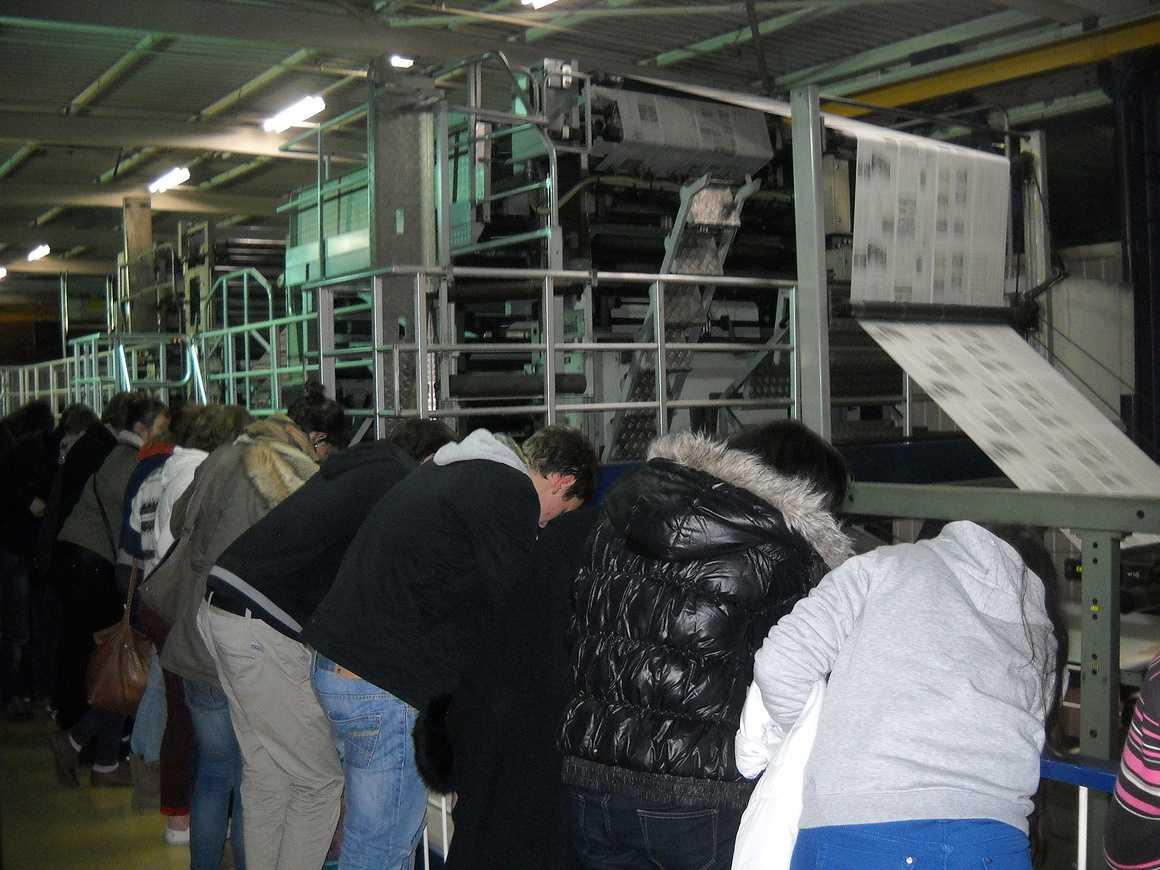 Des élèves de seconde et de terminale ont visité l''imprimerie de Ouest France 0