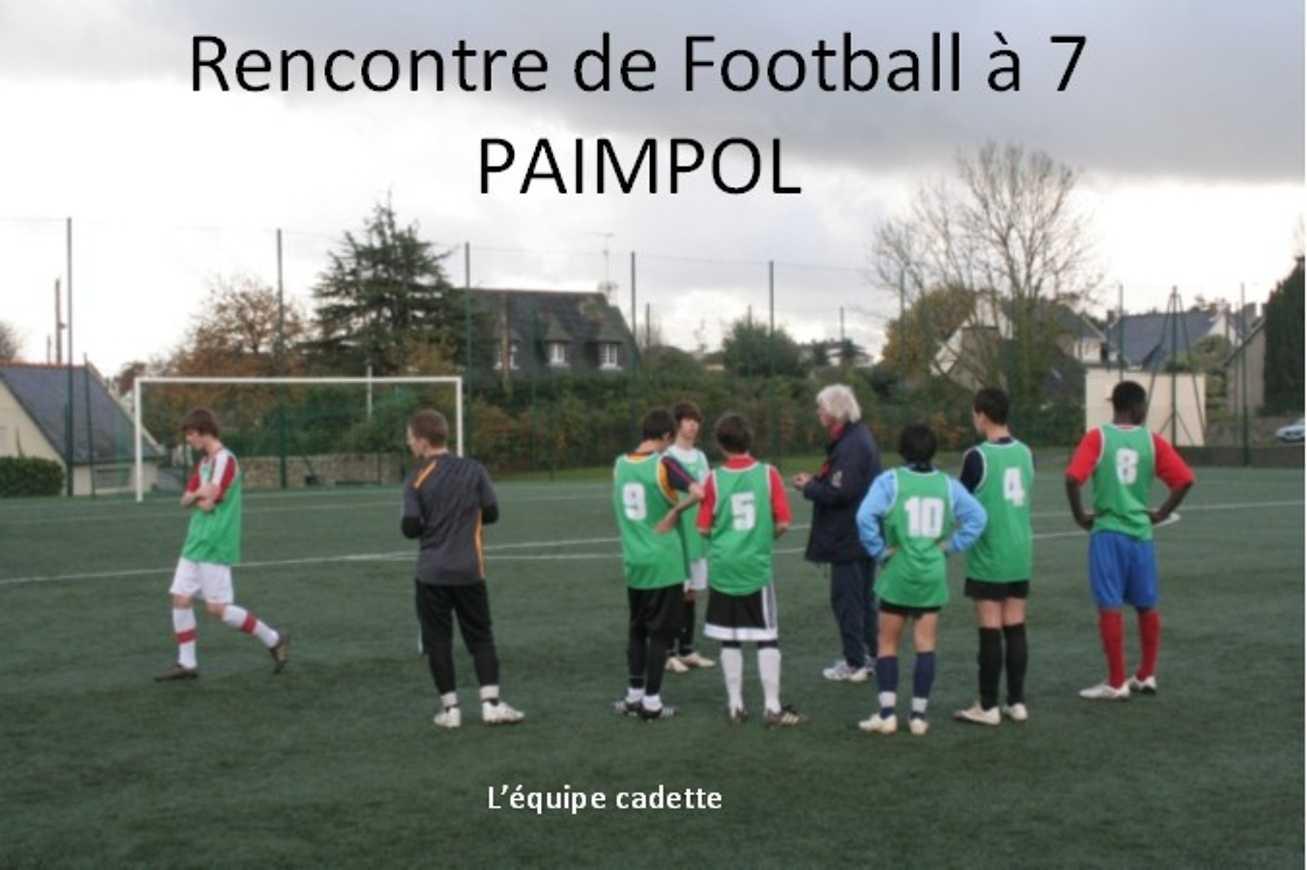 Rencontre de foot ball à 7 à Paimpol 0