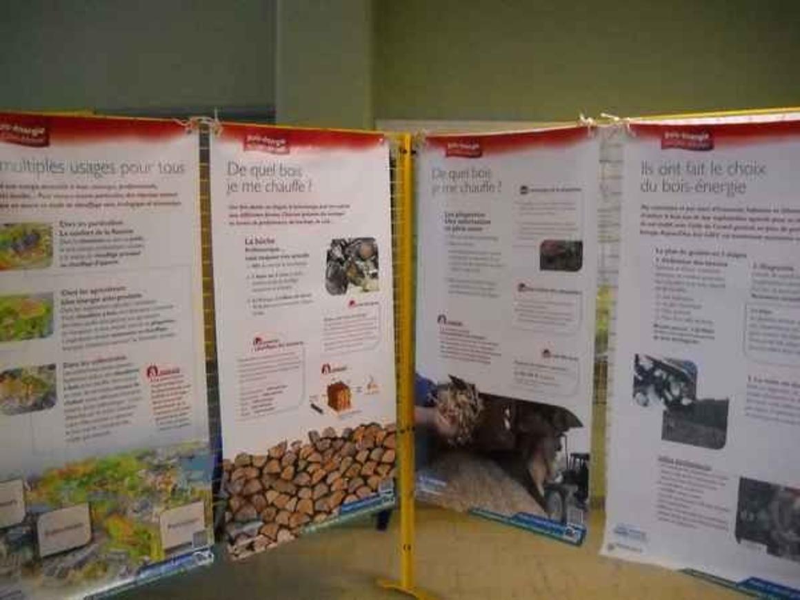 Exposition sur le bois énergie dans le grand Hall 0