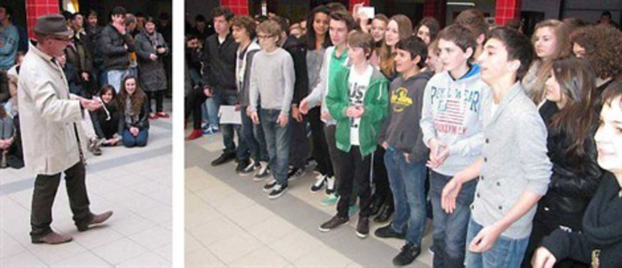 Lycéens et collégiens réunis pour chanter l''amitié franco-allemande (article OF) 0
