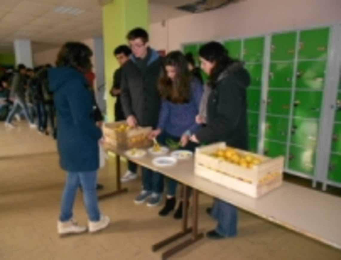 Nouvelle distribution de pommes bio par le CVL à la récréation pommes2
