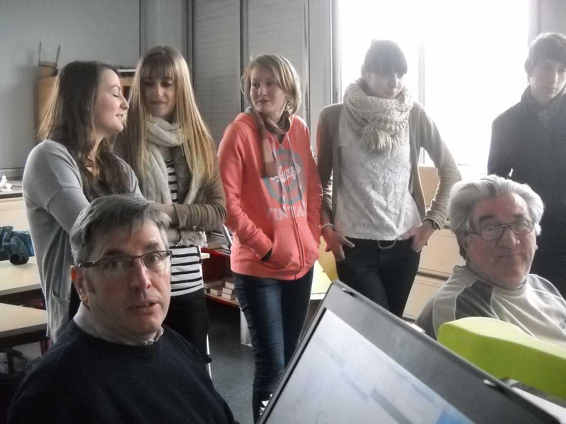 Michel Rault et les élèves de l''option gallo montent un film dscn4107
