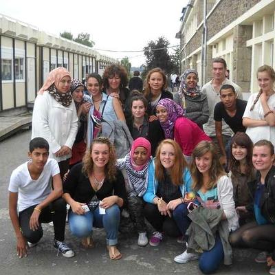 De jeunes palestiniens accueillis au lycée