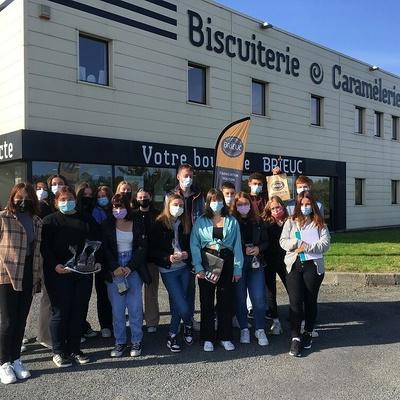 Les 1MCVA visitent l'entreprise « Maison Brieuc » : une biscuiterie artisanale