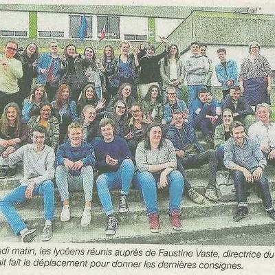 Soixante lycéens bénévoles à Bobital