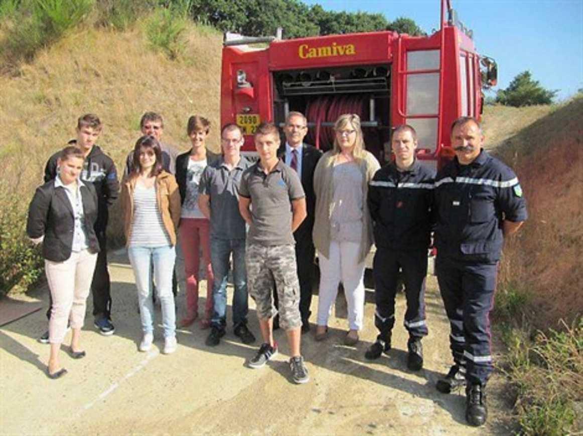 Les élèves pompiers sont rentrés au lycée Henri-Avril (OF) 0