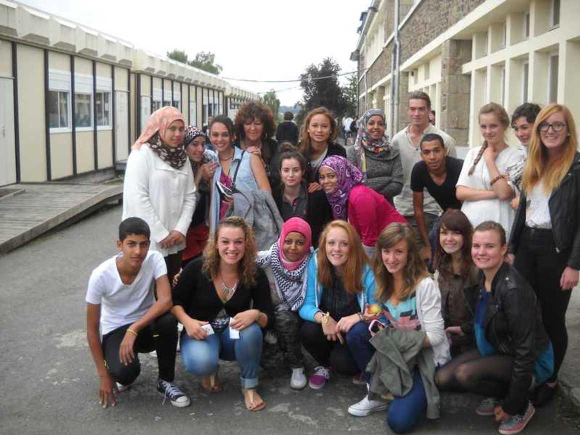 De jeunes palestiniens accueillis au lycée 0