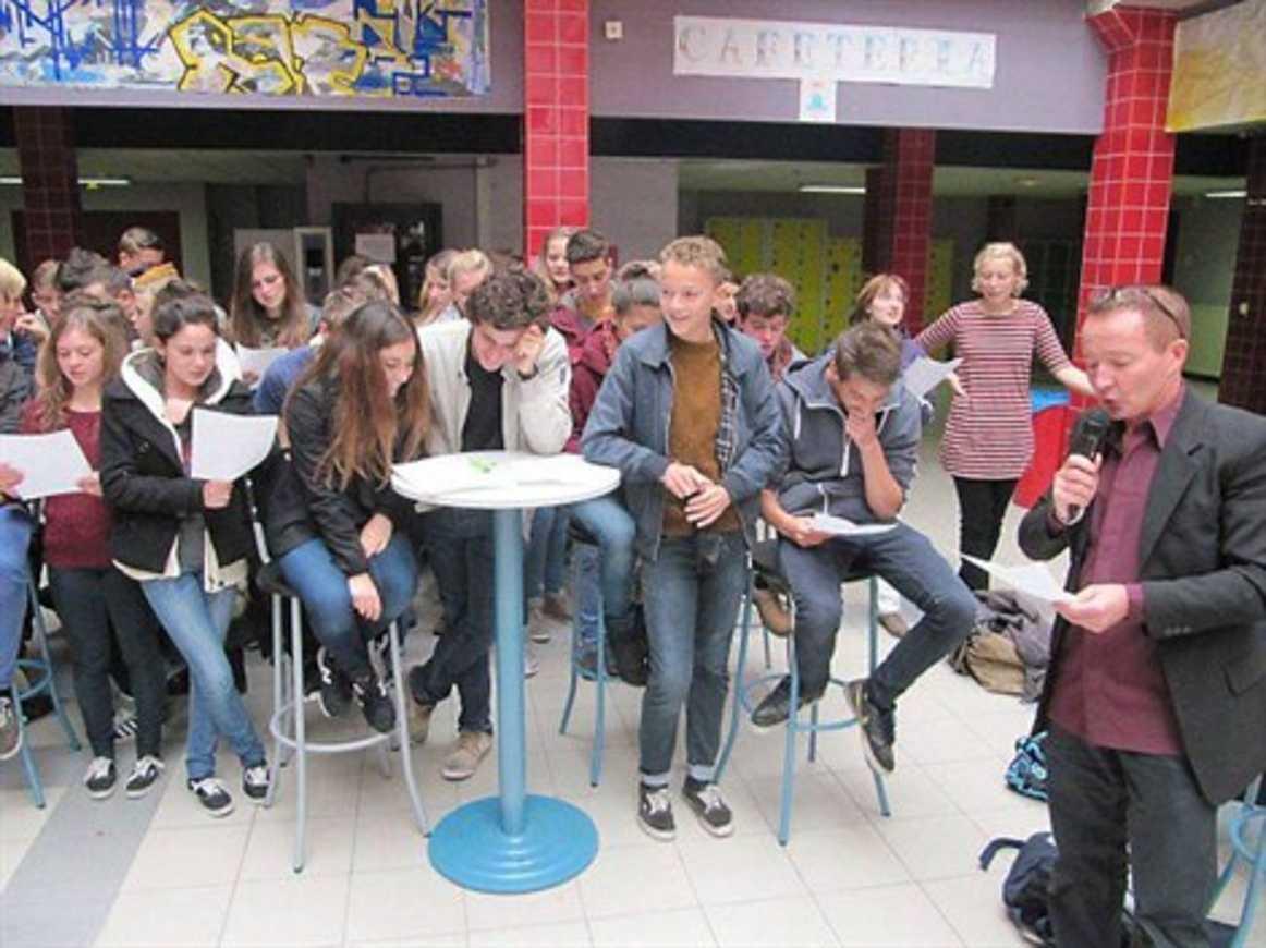 Des élèves allemands au lycée Henri-Avril (OF) 0