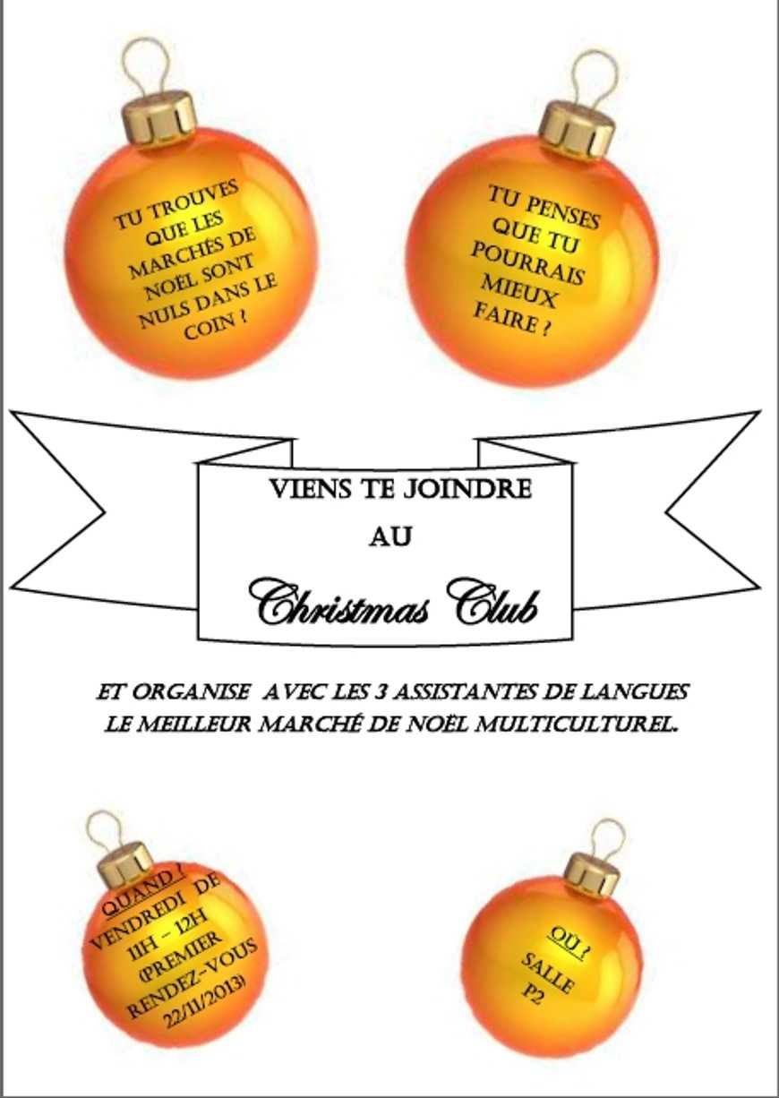 Viens Te joindre Au Christmas Club 0
