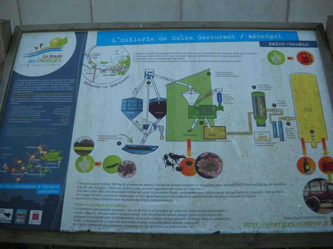 Visite de Géotexia et de l''huilerie de colza du Mené dscn5220