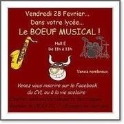 boeuf musical : vendredi 28 fevrier 11h-13h