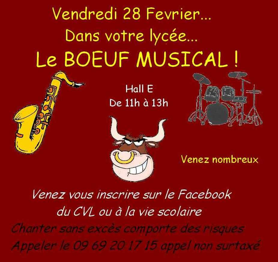 Boeuf musical : vendredi 28 février 11h-13h 0