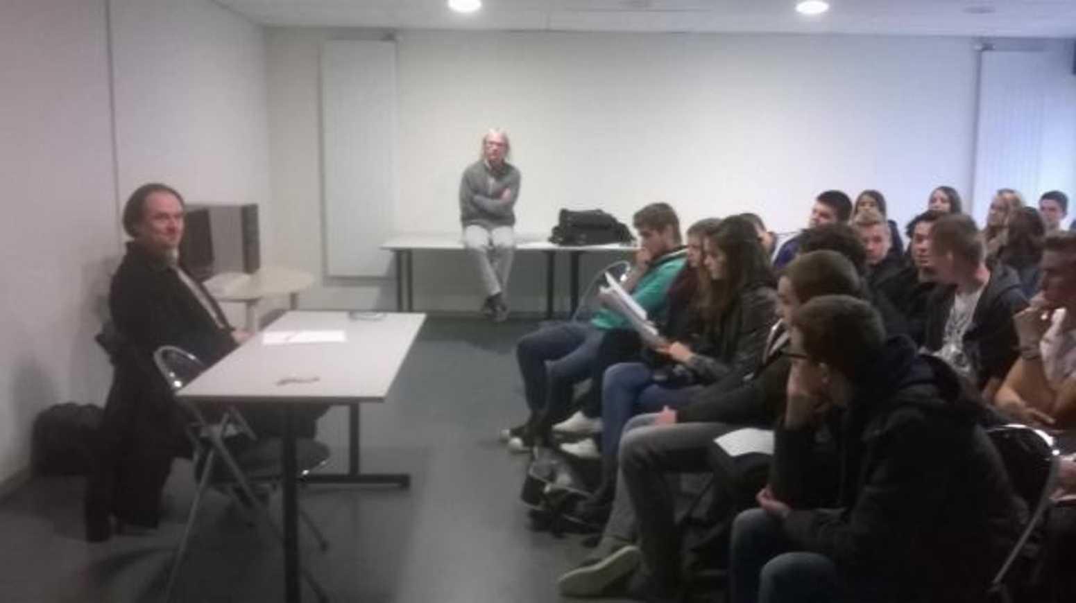 Dominique Delahaye a rencontré les élèves du prix epolar wp20141117003