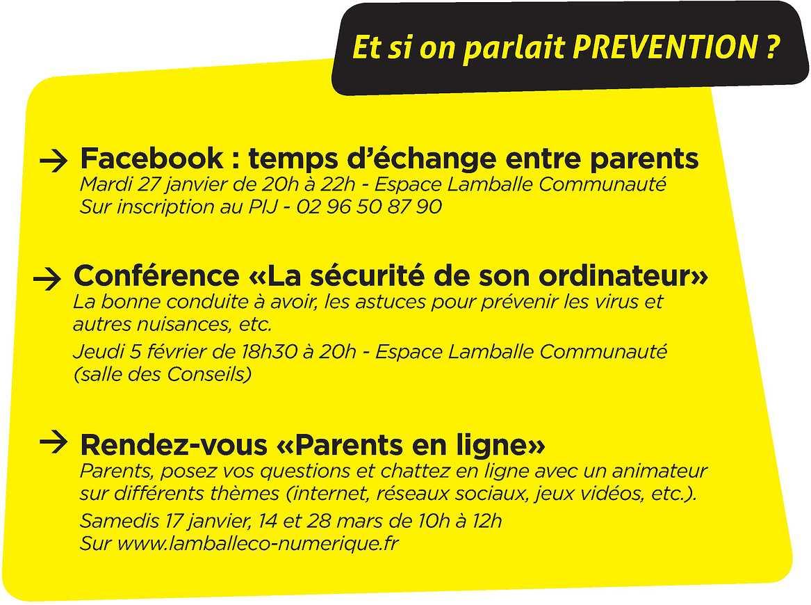 Rencontres prévention à destination des parents 0