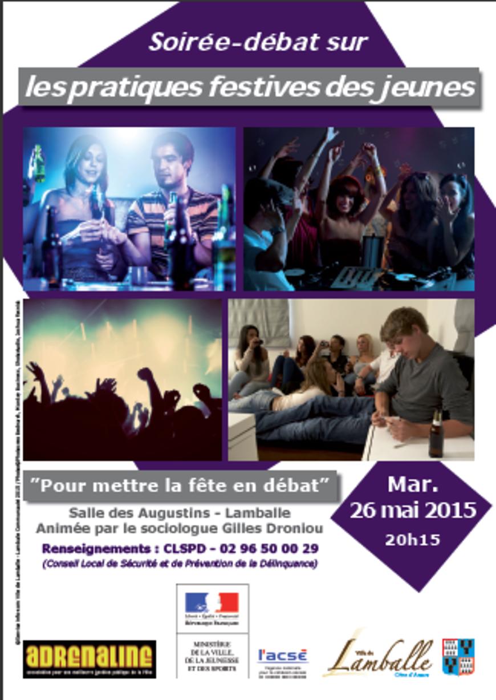 Soirée-débat sur les pratiques festives des jeunes : 26 mai, 20h15 0