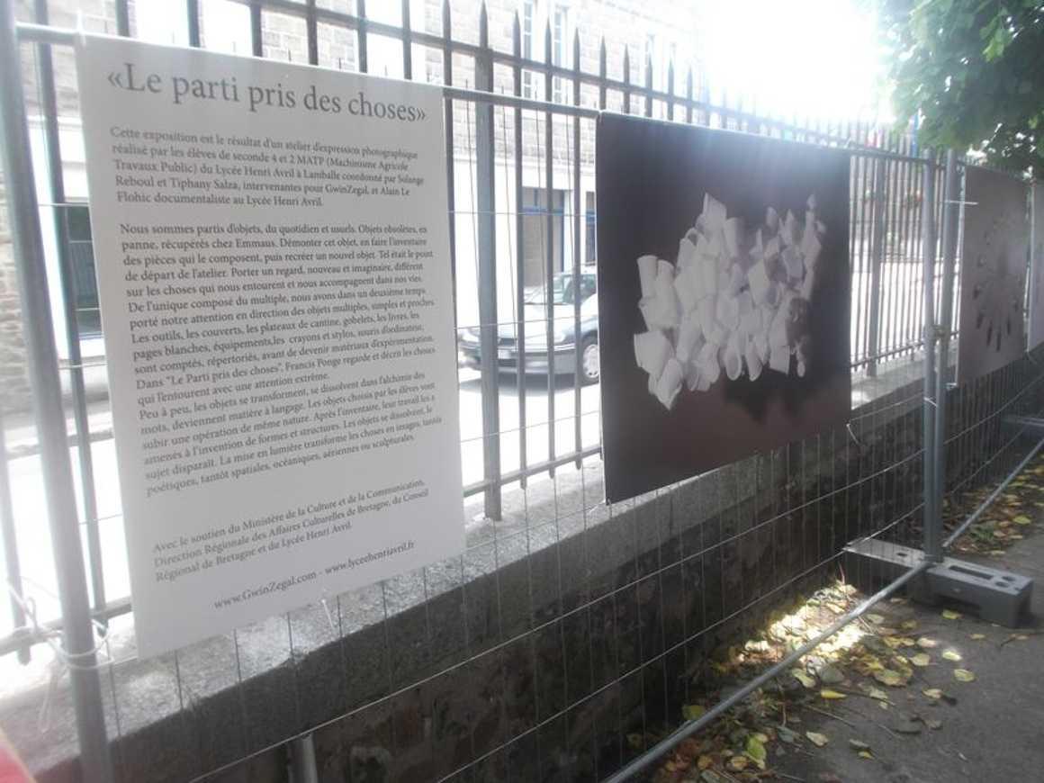 """L''exposition """"Le parti pris des choses"""" a été présentée dans le cadre de la fête de la MJC dscf0957-1bis"""