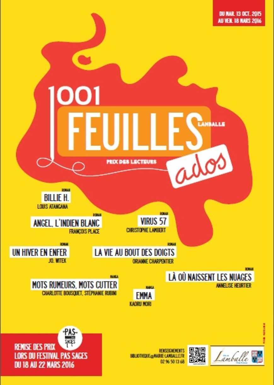 """Lancement du Prix """"Mille et unes feuilles ado"""" 1001feuillesados"""