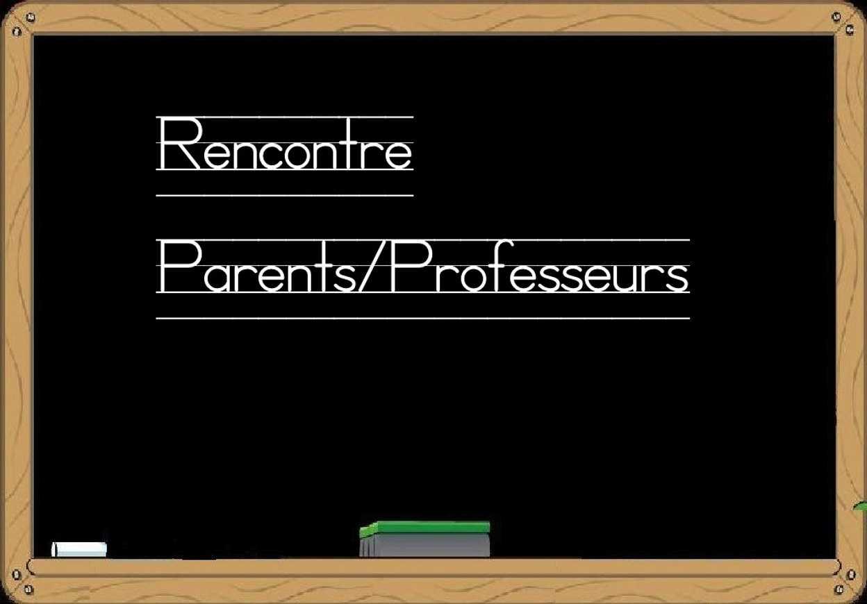 Calendrier rencontres parents professeurs 0
