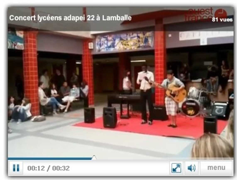 À Lamballe, des lycéens en concert pour des jeunes de l''Adapei 22 0