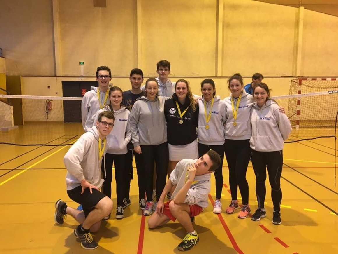 Qualifiés au championnat de France de badminton! 0