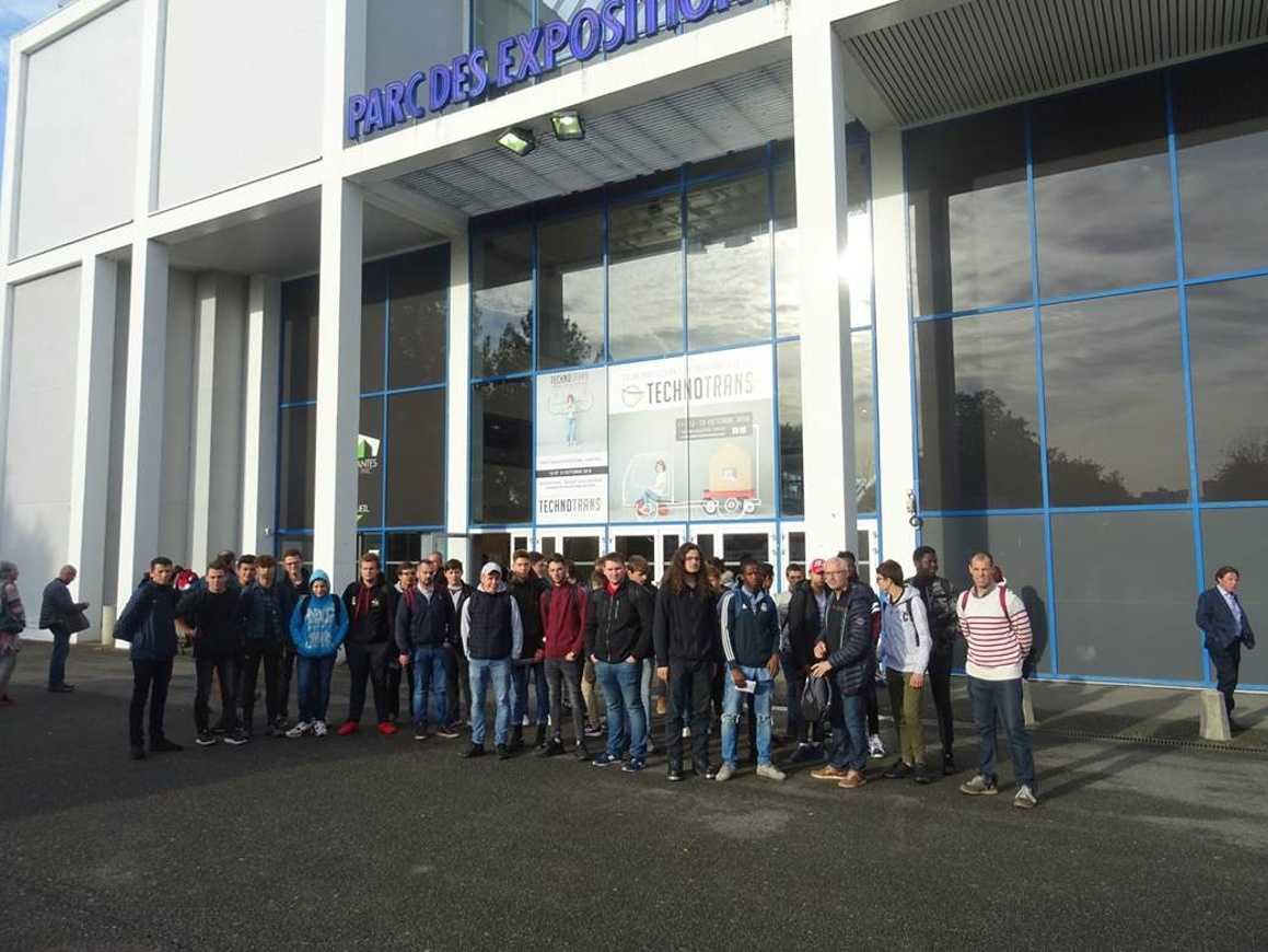 Les élèves de VTR au Salon technotrans  à Nantes 0