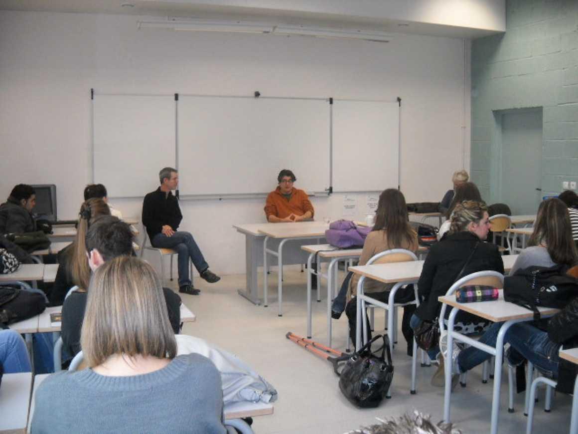 L''écrivain Patrick Bard a rencontré des élèves du lycée 0