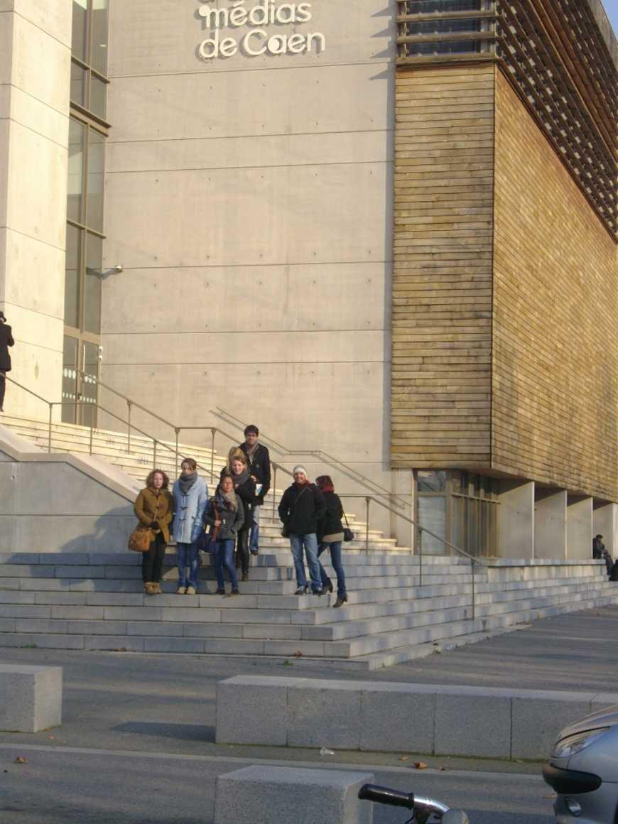Les élèves de l''option arts plastiques en visite au Havre et à Caen. 0