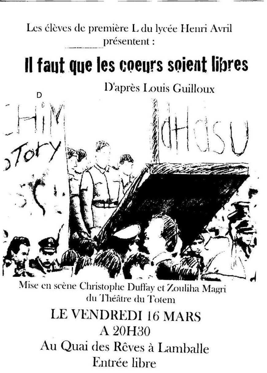 Les affiches du spectacle des Premières L affiche2alain