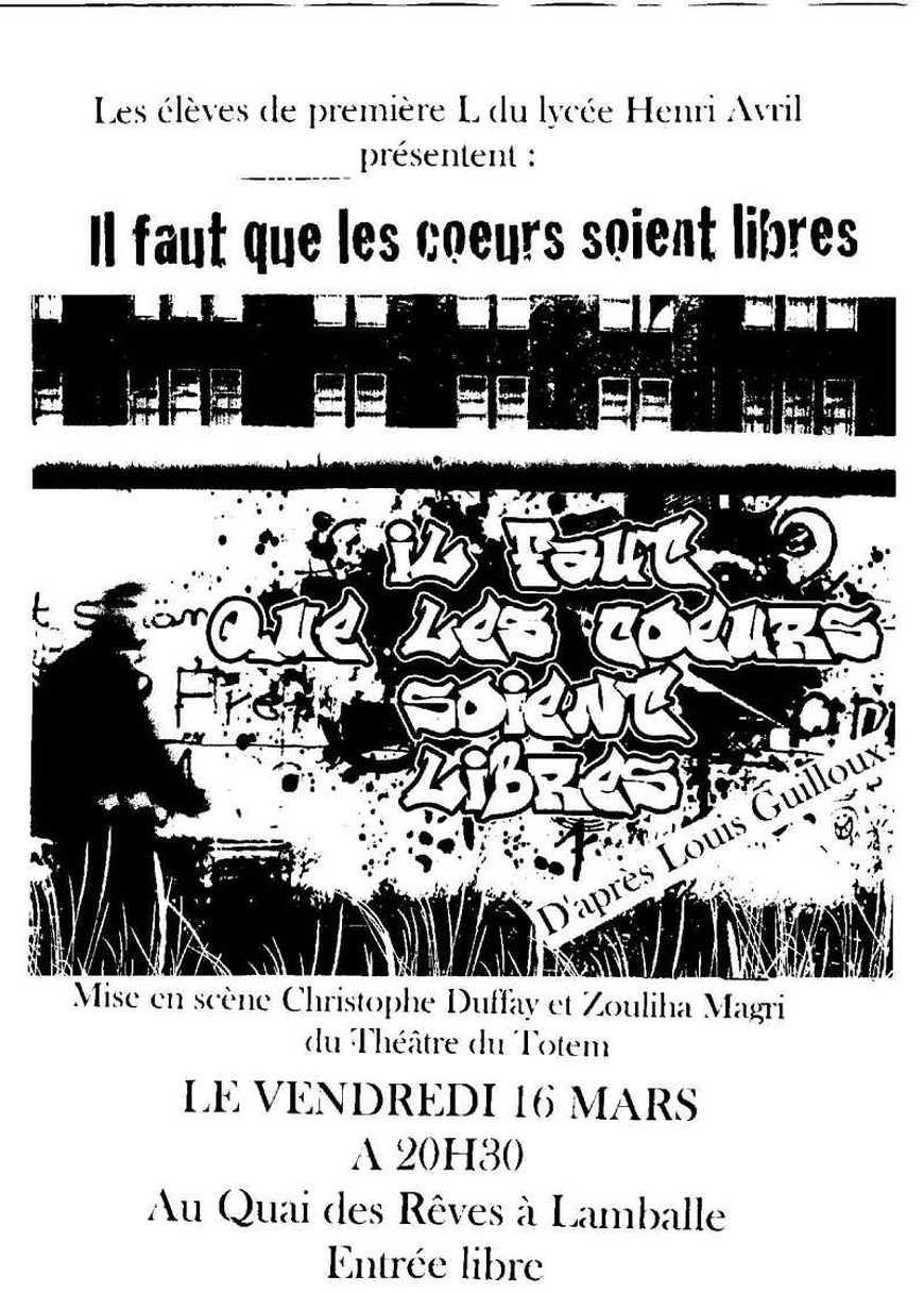 Les affiches du spectacle des Premières L 0