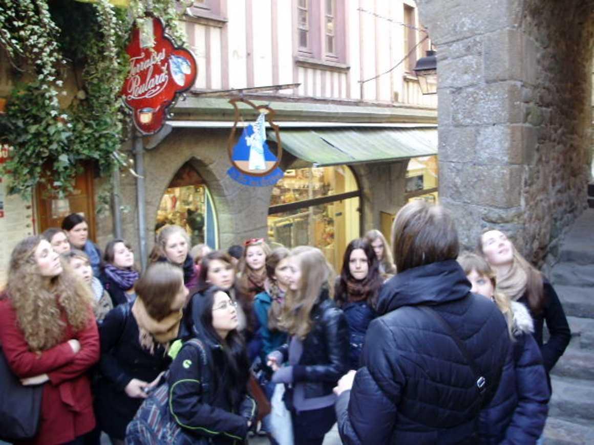 Sortie au Mont St Michel et St Malo pour les correspondants allemands 0