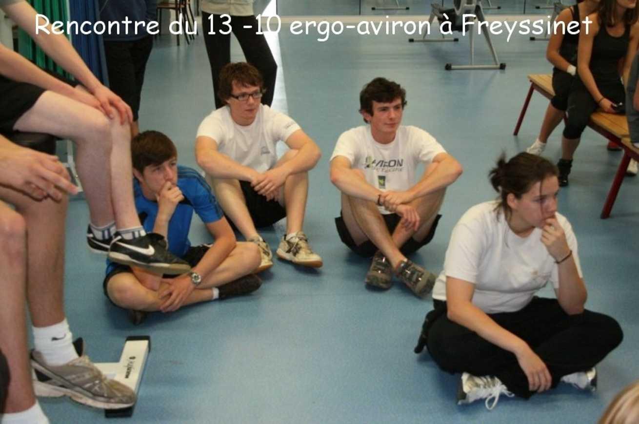 Rencontre handball et ergo aviron du 13/10 Freyssinet, volley-ball à Renan 0
