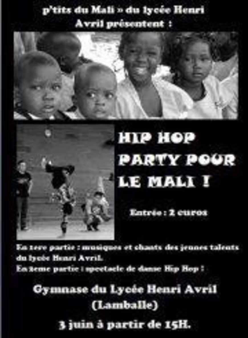 Hip Hop Party pour le Mali le 3 juin au Gymnase du lycée 0