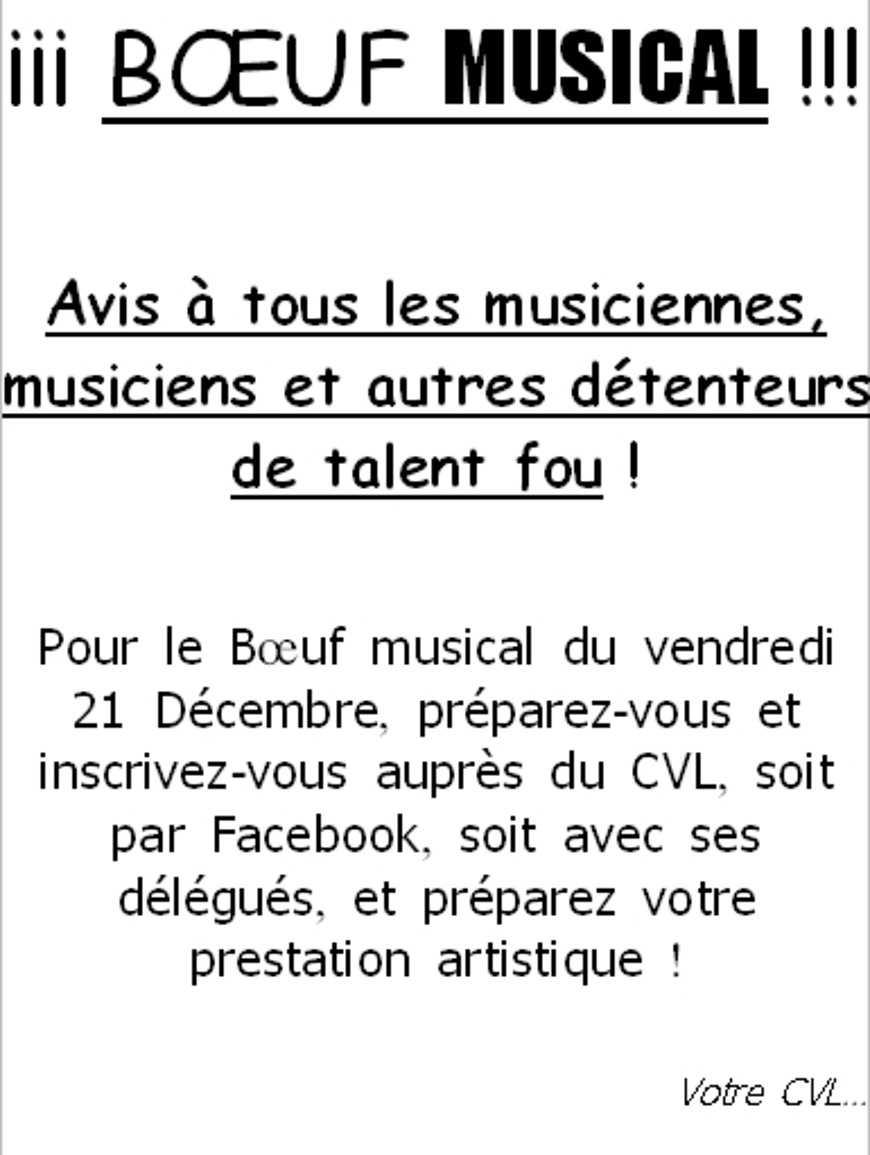 Boeuf musical de Noel 0